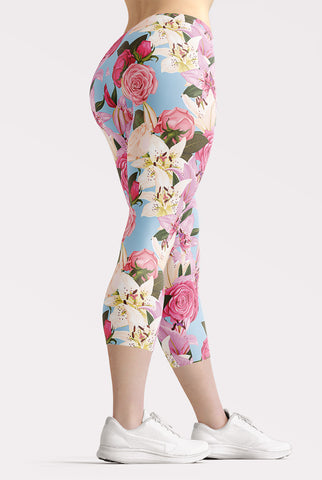 Flowers of Paradise Capri Leggings