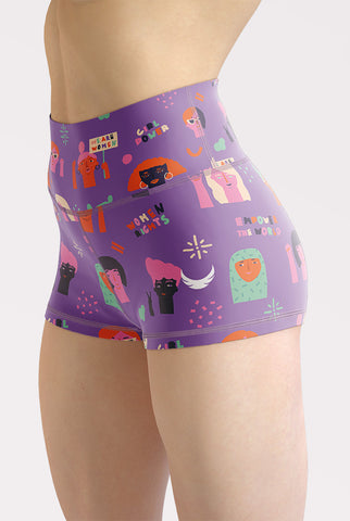 Image of Girl Power High Waisted Shorts