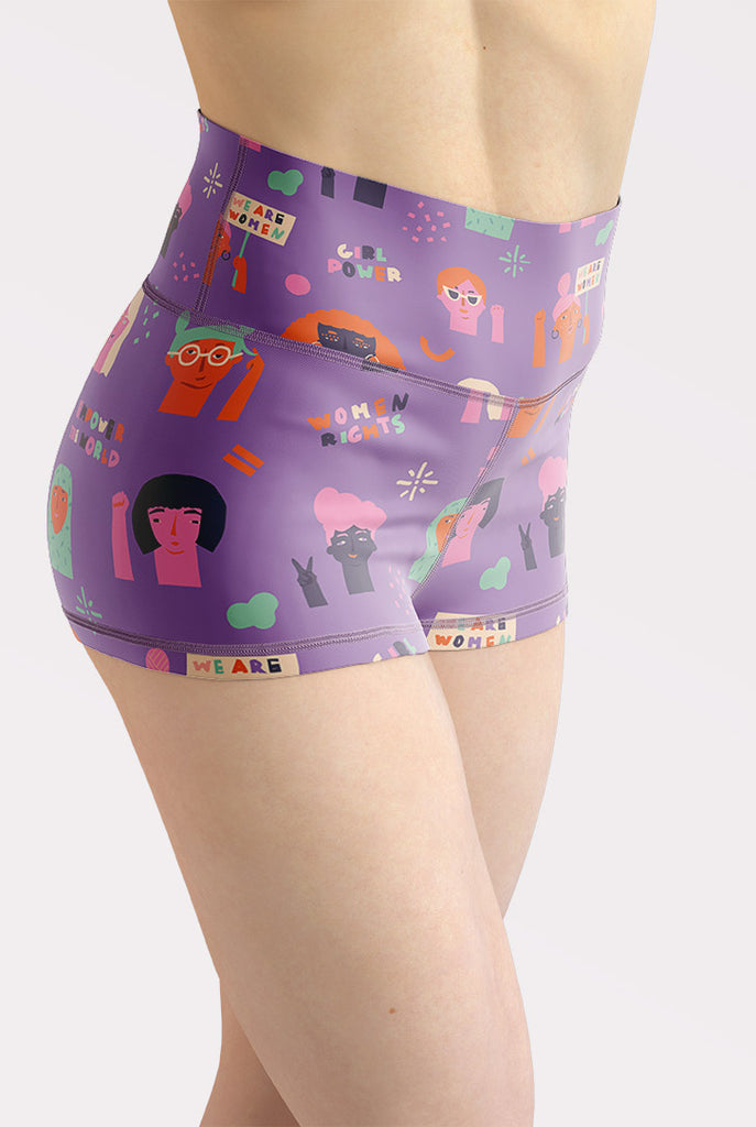 Girl Power High Waisted Shorts