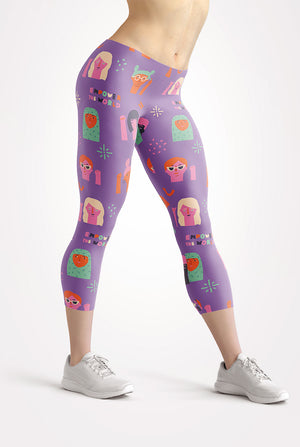 Girl Power Capri Leggings
