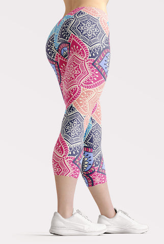 Mandala Capri Leggings