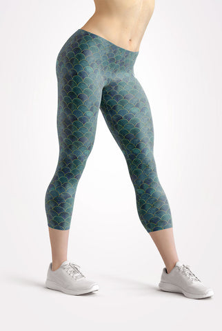 Image of Mermaid Capri Leggings