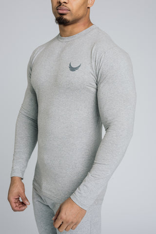 Image of Alpha Long Sleeve T-Shirt - Grey