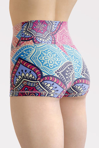 Mandala High Waisted Shorts