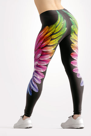 Rainbow Wings Leggings