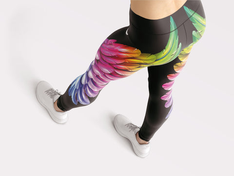 Image of Rainbow Wings Leggings