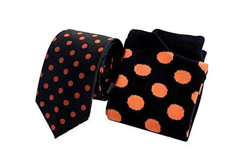 New DOTS Necktie & Dress Socks Set, Tie Set - Jdbowties