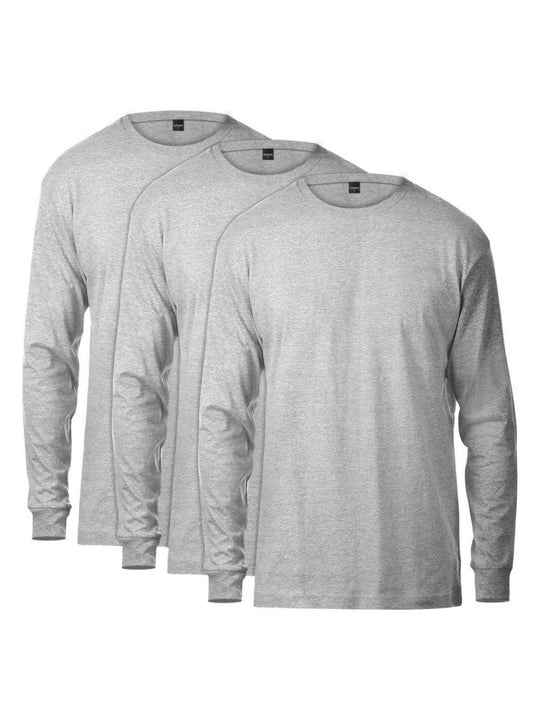 Basic Long Sleeve Tee 3 Pack (Heather Grey)