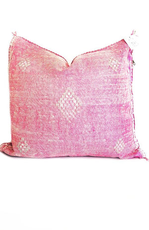 pink pillow moroccan cactus silk