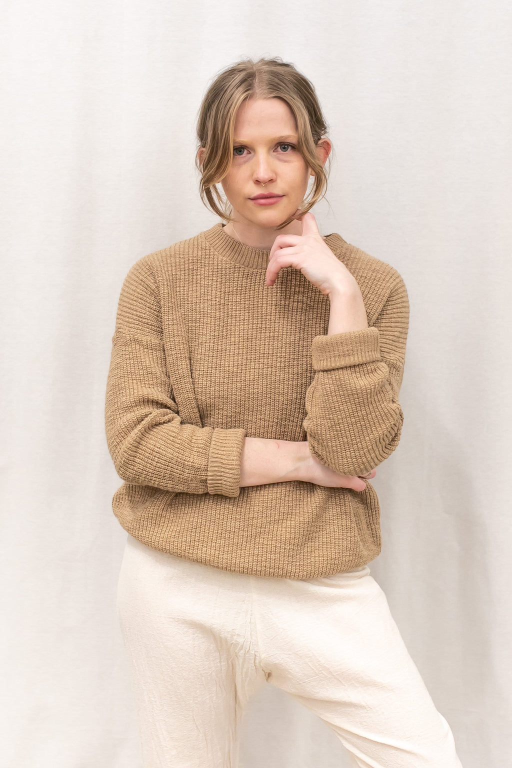camel cotton sweater