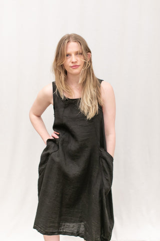 CPShades Linen Ruthie Dress Black