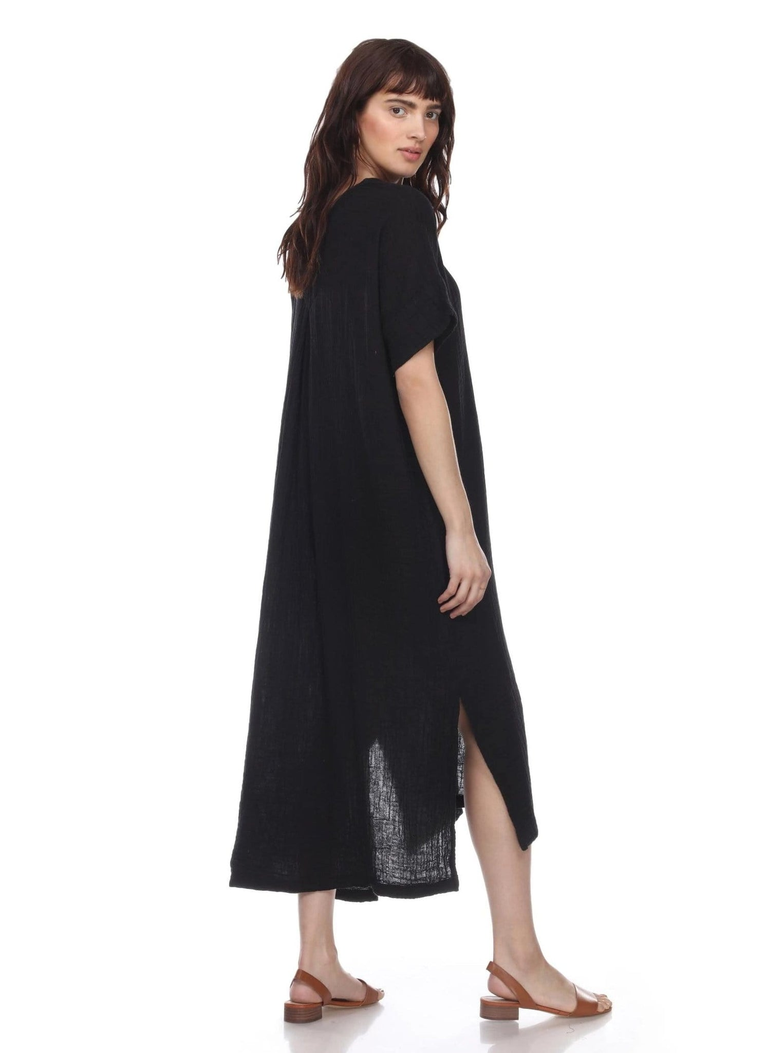 Boho Cotton Gauze Dress