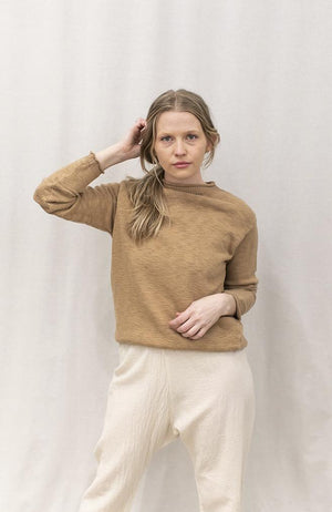 Mockneck Sweater | Camel