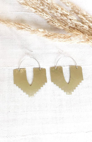 Sanctuary Earrings Handmade Bohemian Brass Earrings