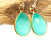 Peru Green Chalcedony Earrings