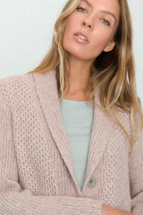 Shawl Collar Sweater | Desert Pottery