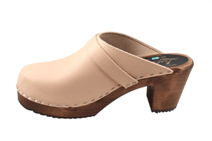Lotta 131 dark highwood mule slide Swedish clogs in cappuccino