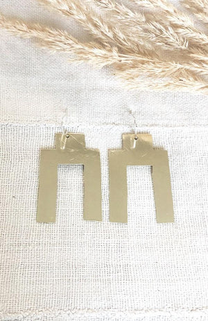 Temple Brass Earrings