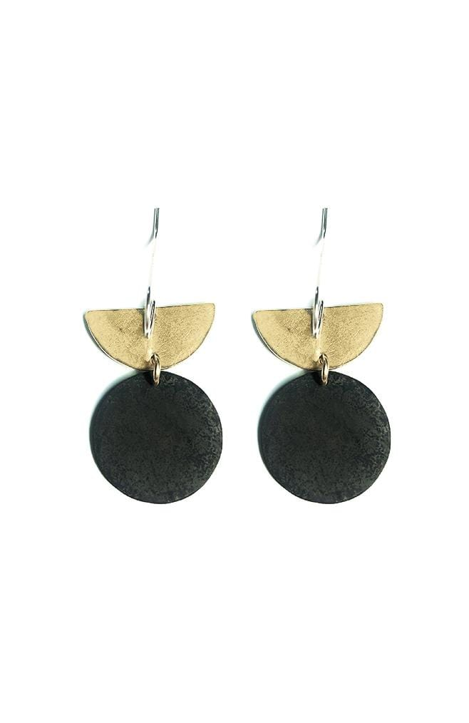 two tone modern earrings