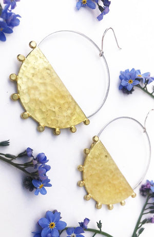 dream cloud Sunray  hoop earrings
