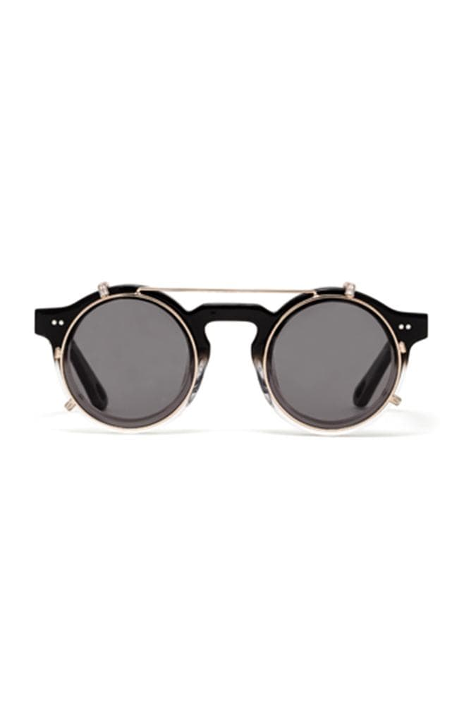 designer black sunglasses
