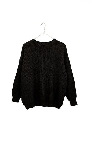 Pull-On Sweater | Black