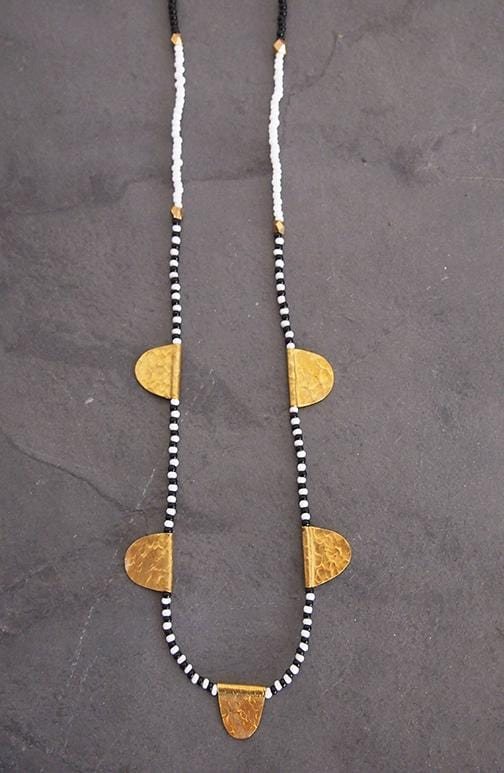 Amsha African beaded necklace