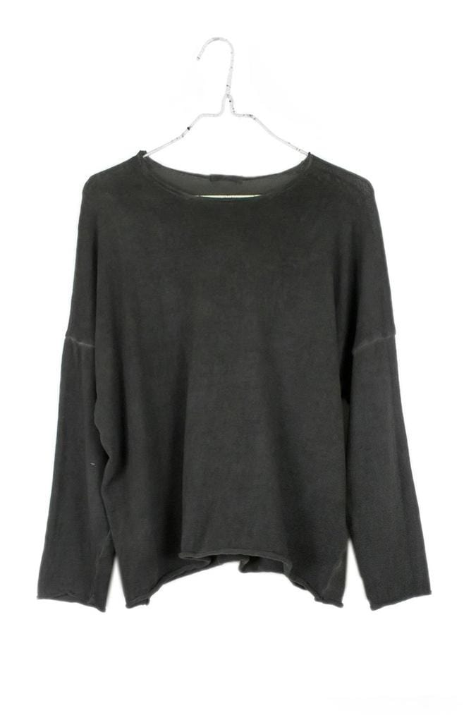 Boxy Sweater | Charcoal Oil