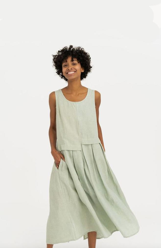 tribe alive organic linen dress