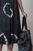 Linen Shibori Tote Bag in Black