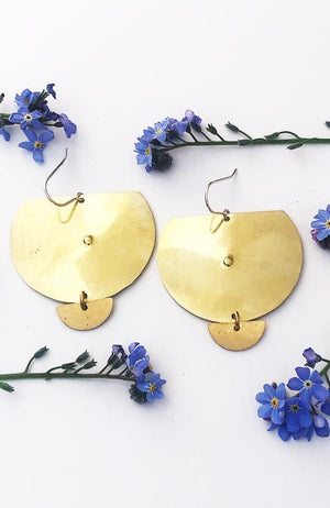 desert mesa brass earrings