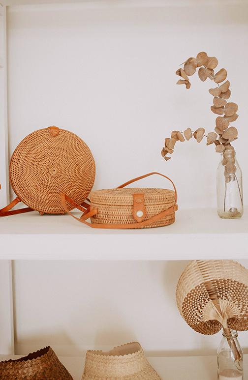 round rattan purse village thrive