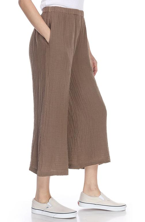 honest cotton palazzo pant in taupe