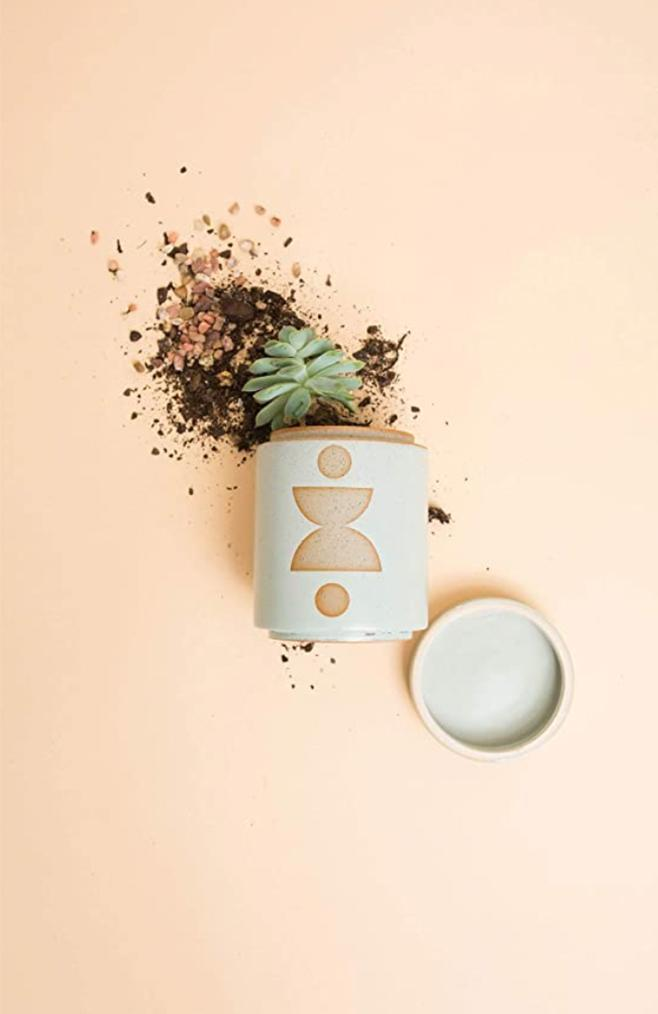 modern ceramic planter candle