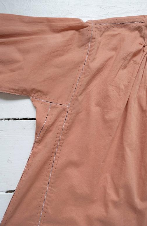 karu potter's blouse in pink clay