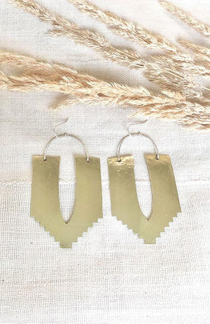 Handmade Bohemian Modern Brass Earrings