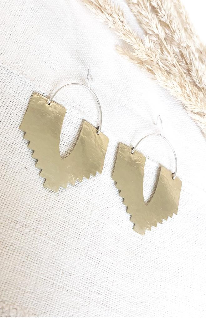 Bohemian Brass Earrings Sanctuary