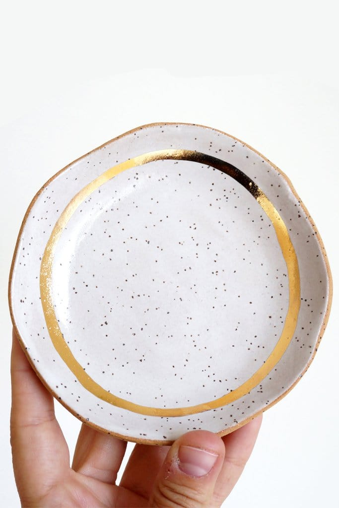 Speckled Gold Dish