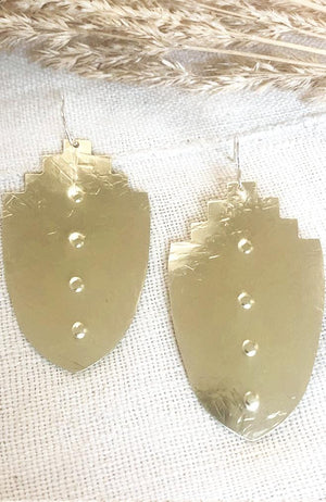 bohemian Brass Earrings