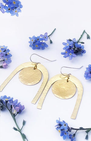 universal soul brass bohemian earrings
