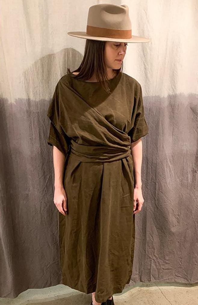 uzi nyc dress in brown