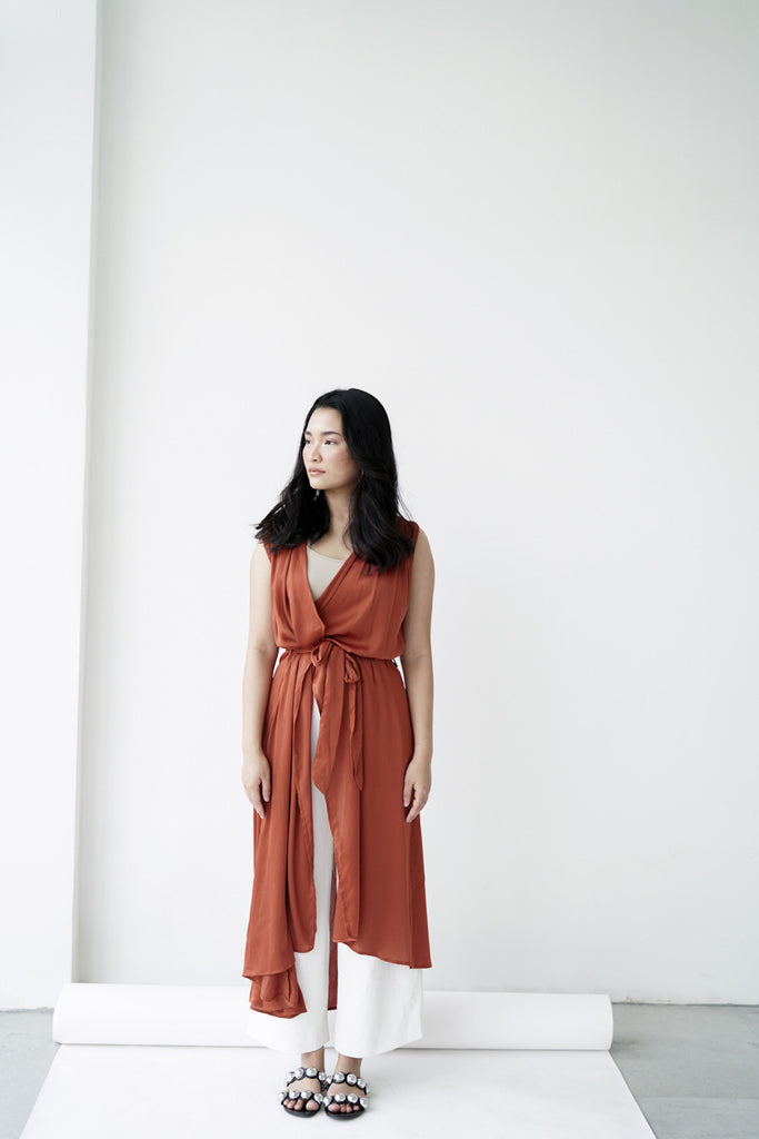 Maia Cover Up in Terracotta