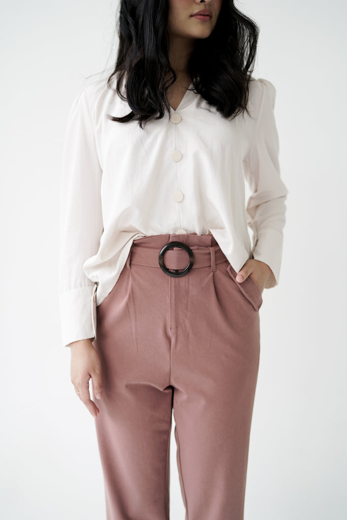 Augus Tapered Pants in Mauve