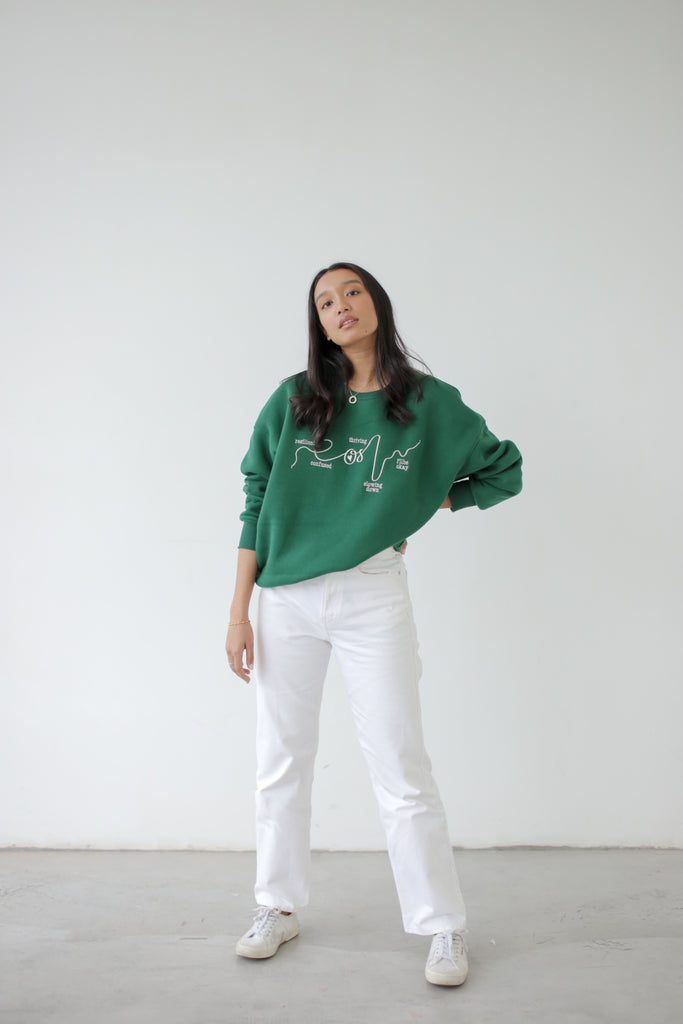 #OHSHEIS GREEN SWEATSHIRT
