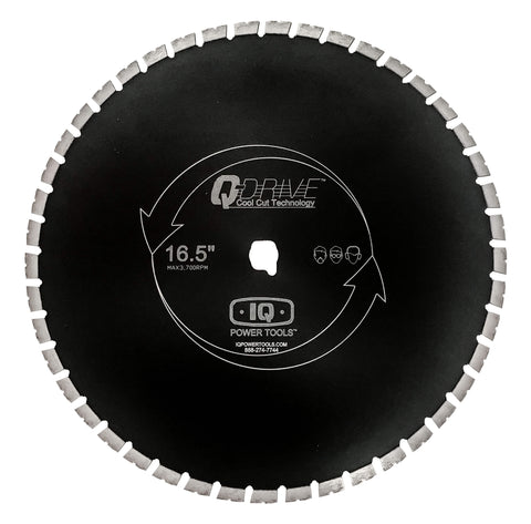 16.5″ Q-Drive Arrayed Segmented Diamond Blade – Silent Core