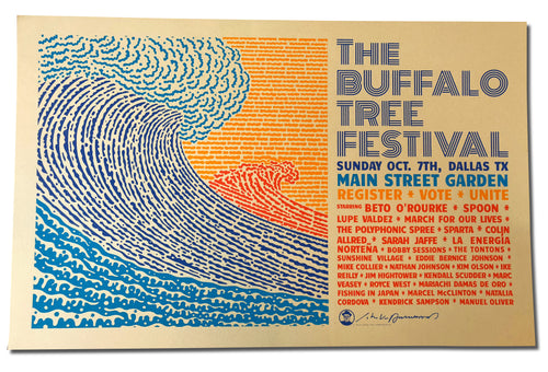 THE BUFFALO TREE FESTIVAL - SHOW PRINT