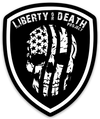 Liberty or Death Project Skullmerica badge