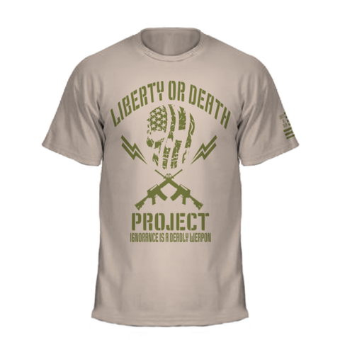 Liberty or Death Project Ban Ignorance Tee front