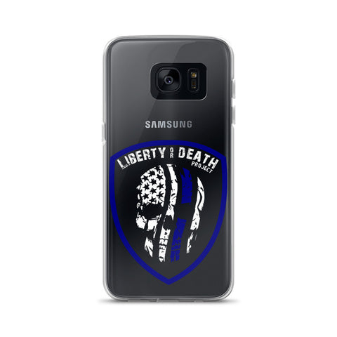 Skullmerica Blue Line Samsung Case - Liberty or Death Project
