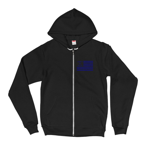 Liberty or Death Project Skullmerica Blue Line Hoodie front